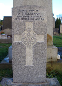 Private Alonzo Birkenshaw. 26955.
