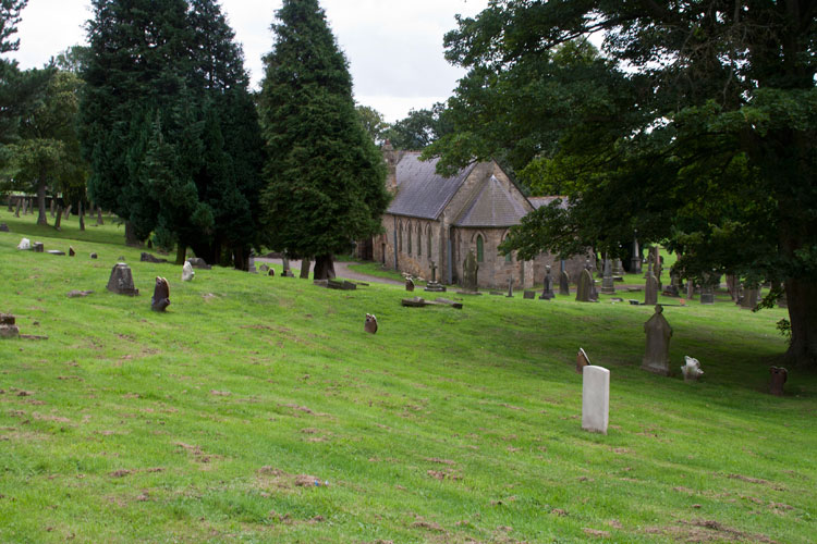 The section of Crook Cemetery in which Private Moses' headstone is found (on the left but not shown in photo)