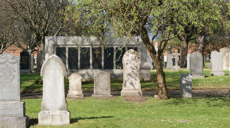 Edinburgh (Seafield) Cemetery, showing the Screen Wall