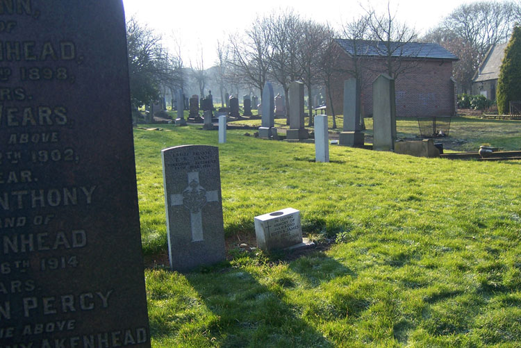 A view of Gateshead East Cemetery, with Private Cann's headstone in the centre foreground