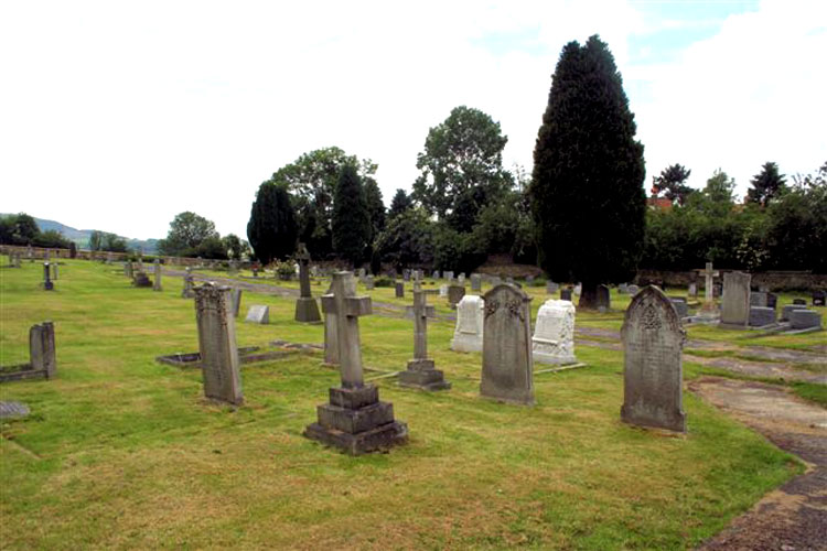 Osmotherley Cemetery, with the Poynter Family Headstones