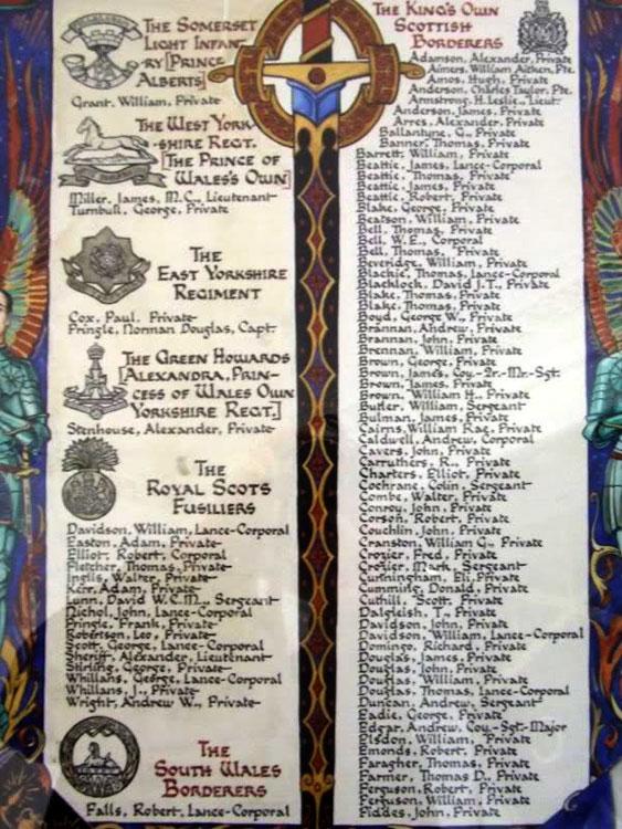 The Yorkshire Regiment War Memorials Elsewhere