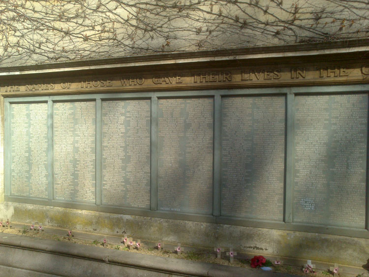 The Commemorative Panels for the War Memorial for Kettering, Northants