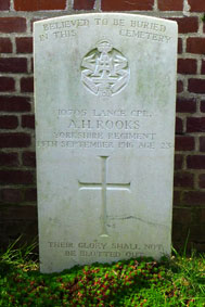 Lance Corporal Allan Horatio Rooks, 10705.