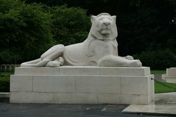 One of the Lions Guearding the Ploegsteert Memorial