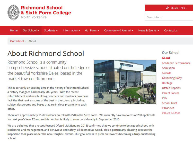 The Home Page for Richmond School