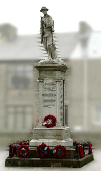 The War Memorial in Tow Law.