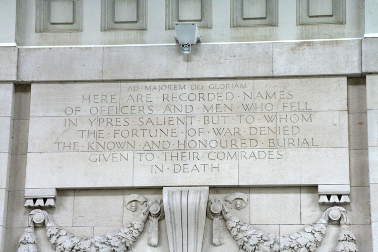The Memorial Dedication inside the Gate